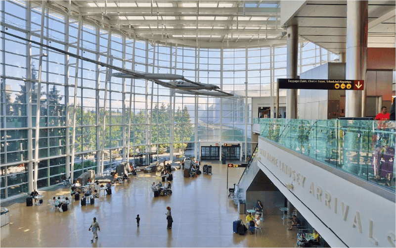 Interior of SeaTac Airport